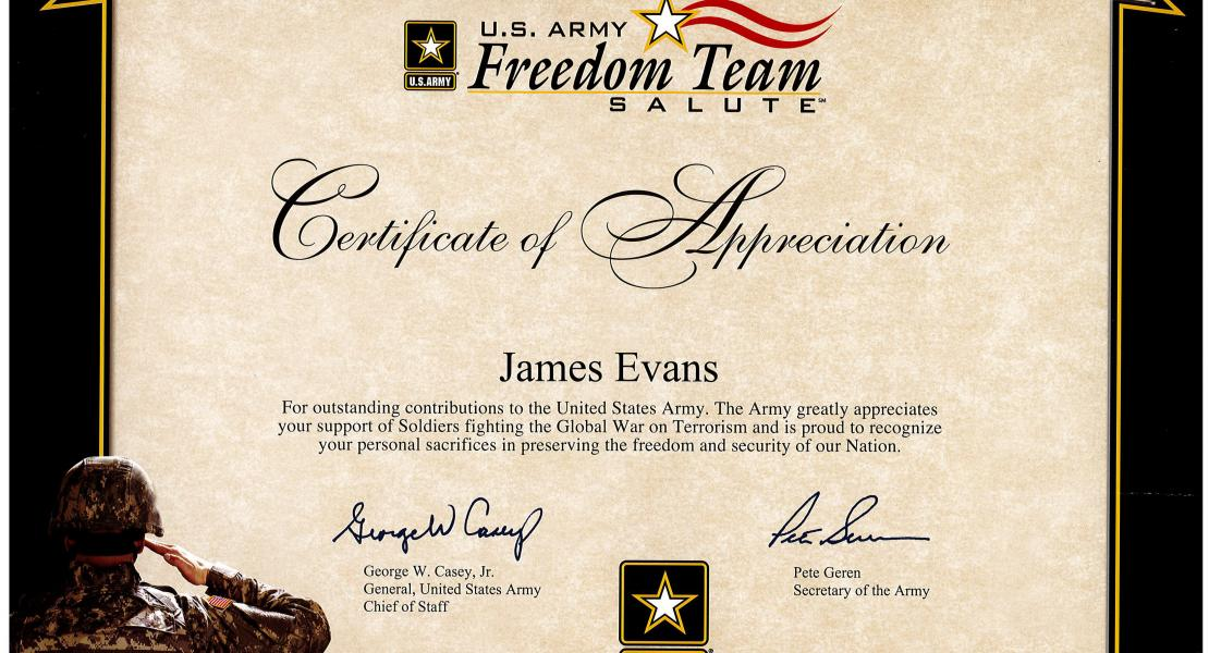 US Army Commendation #2